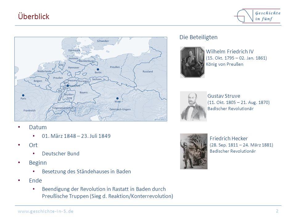 Überblick Die Beteiligten Datum Ort Beginn Ende Wilhelm Friedrich IV