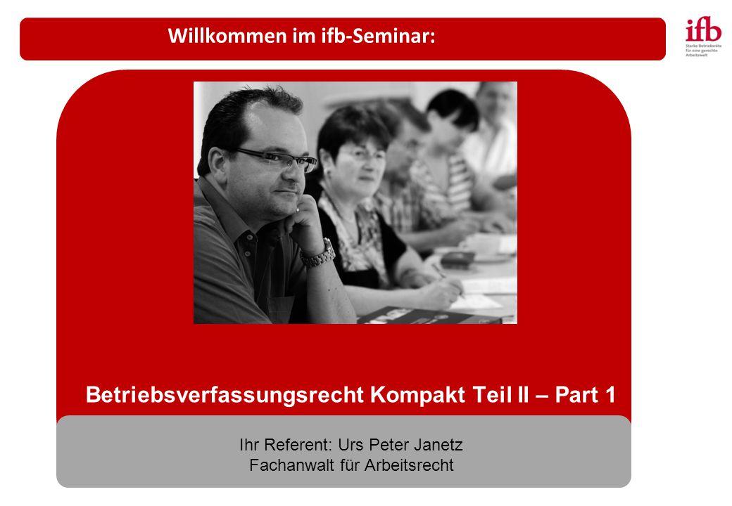 Willkommen im ifb-Seminar: