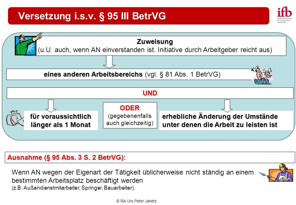 Versetzung i.s.v. § 95 III BetrVG