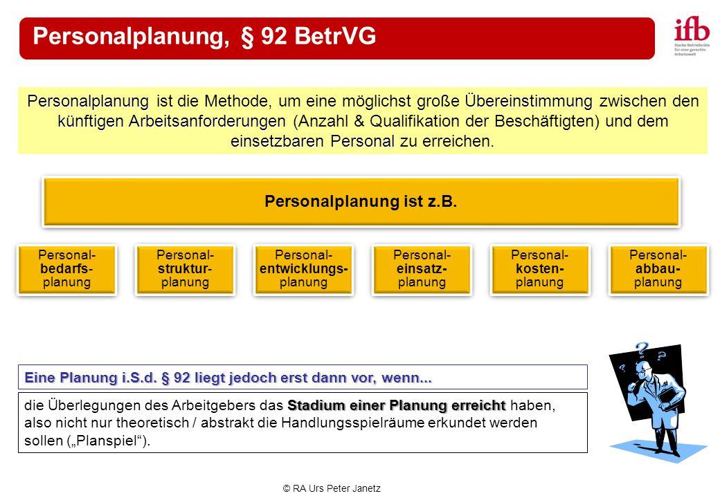 Personalplanung, § 92 BetrVG