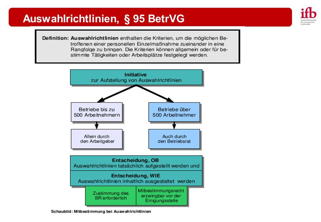 Auswahlrichtlinien, § 95 BetrVG
