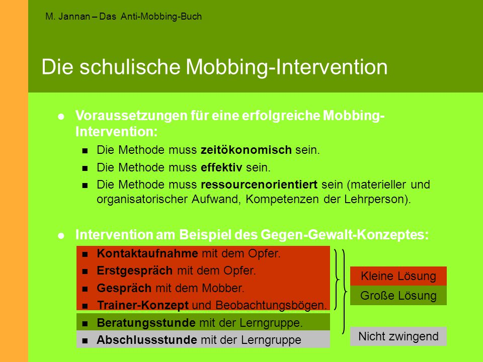 Die schulische Mobbing-Intervention