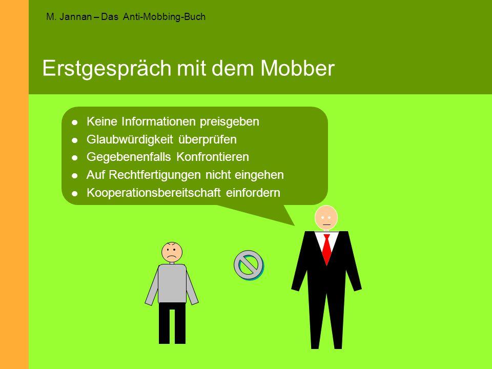Erstgespräch mit dem Mobber