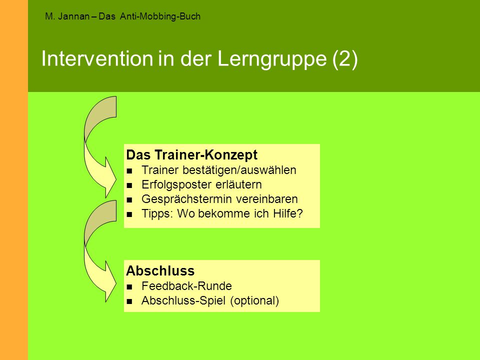 Intervention in der Lerngruppe (2)