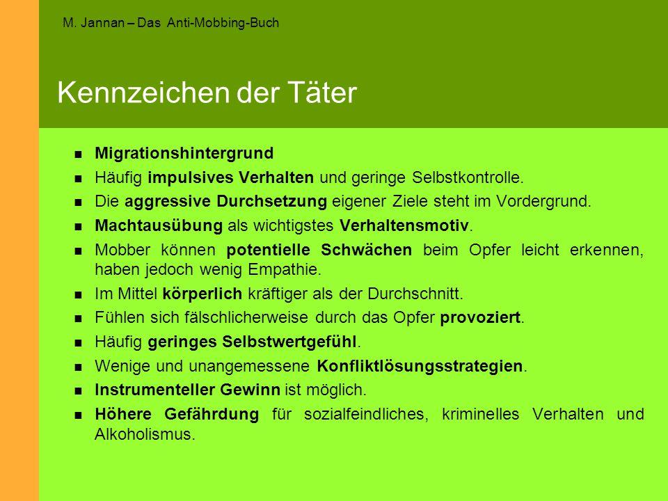 Kennzeichen der Täter Migrationshintergrund