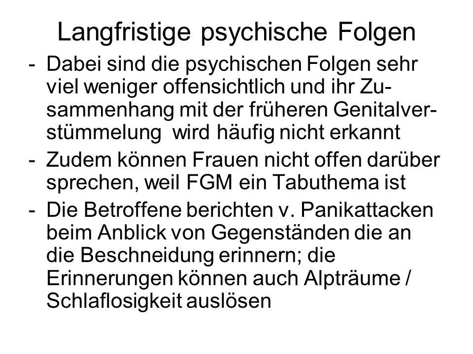Langfristige psychische Folgen