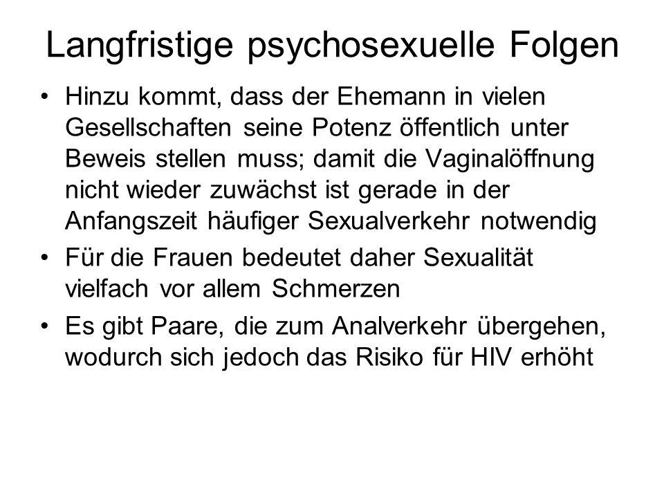 Langfristige psychosexuelle Folgen