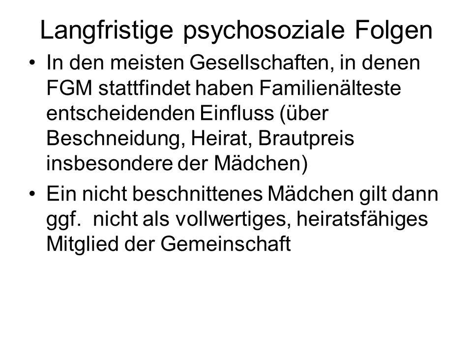 Langfristige psychosoziale Folgen