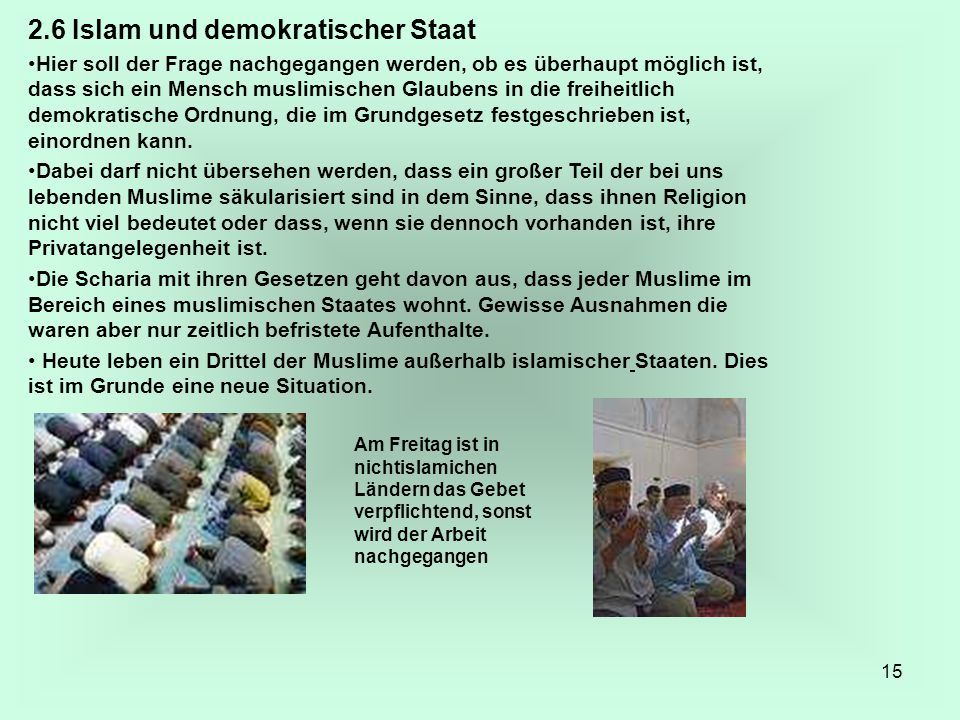 2.6 Islam und demokratischer Staat