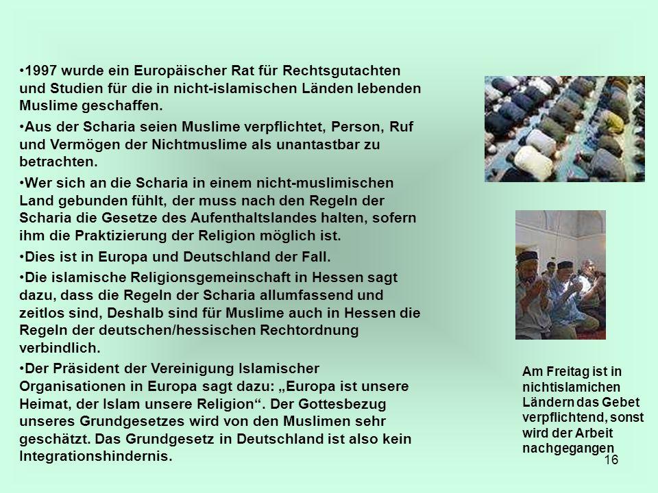 Dies ist in Europa und Deutschland der Fall.
