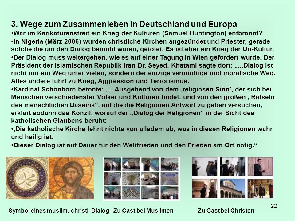 3. Wege zum Zusammenleben in Deutschland und Europa
