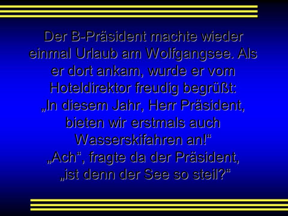 Der B-Präsident machte wieder einmal Urlaub am Wolfgangsee
