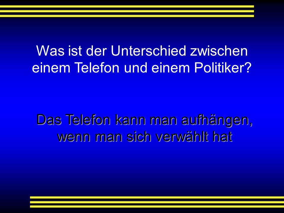 Was ist der Unterschied zwischen einem Telefon und einem Politiker