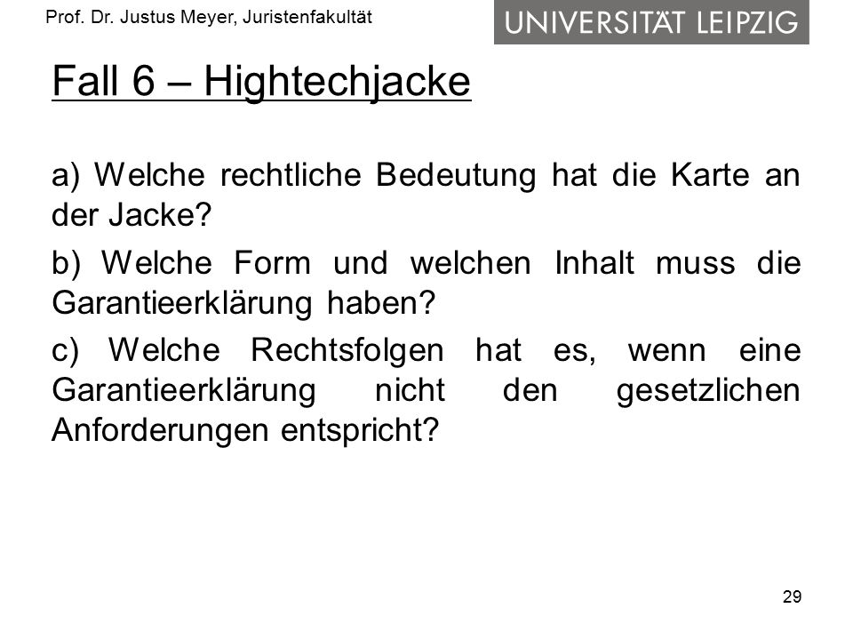Fall 6 – Hightechjacke