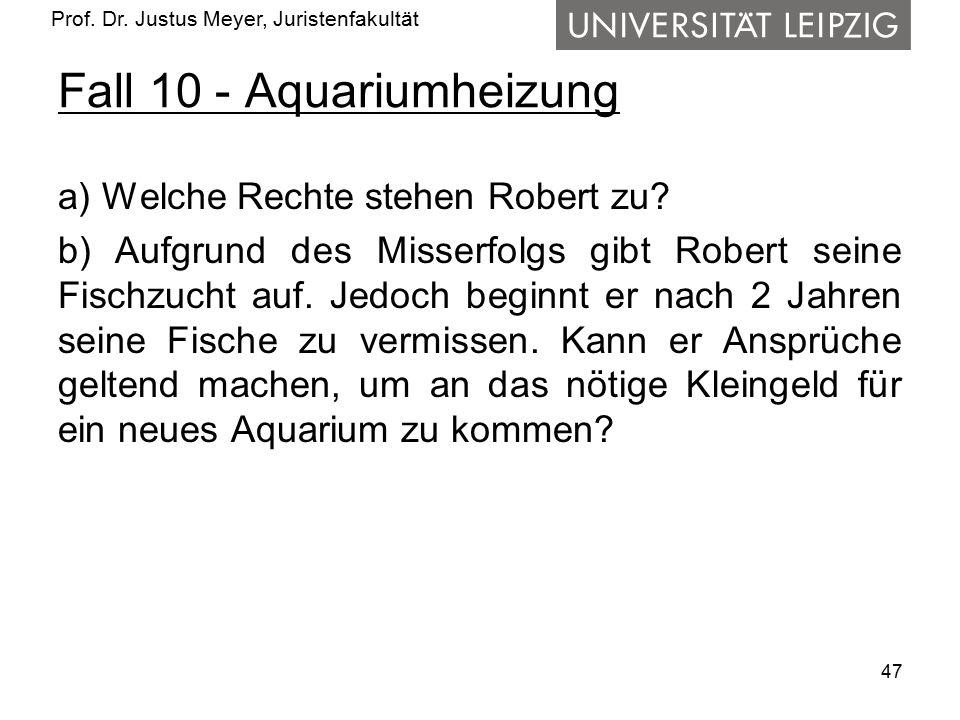 Fall 10 - Aquariumheizung