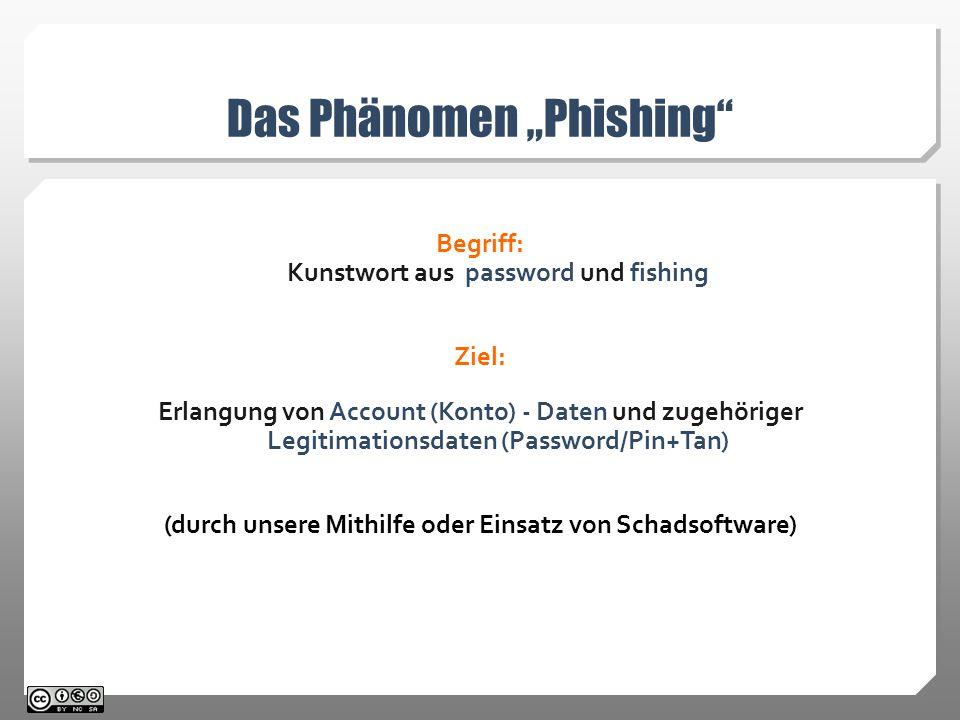 """Das Phänomen """"Phishing"""