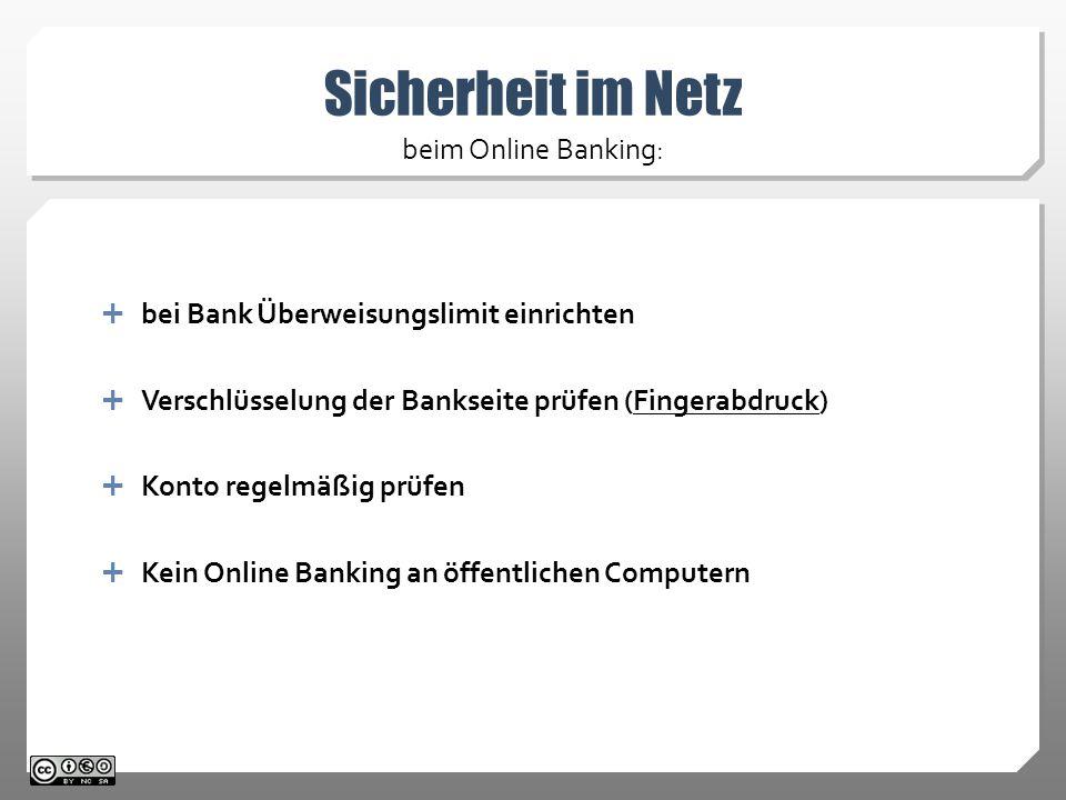 Sicherheit im Netz beim Online Banking: