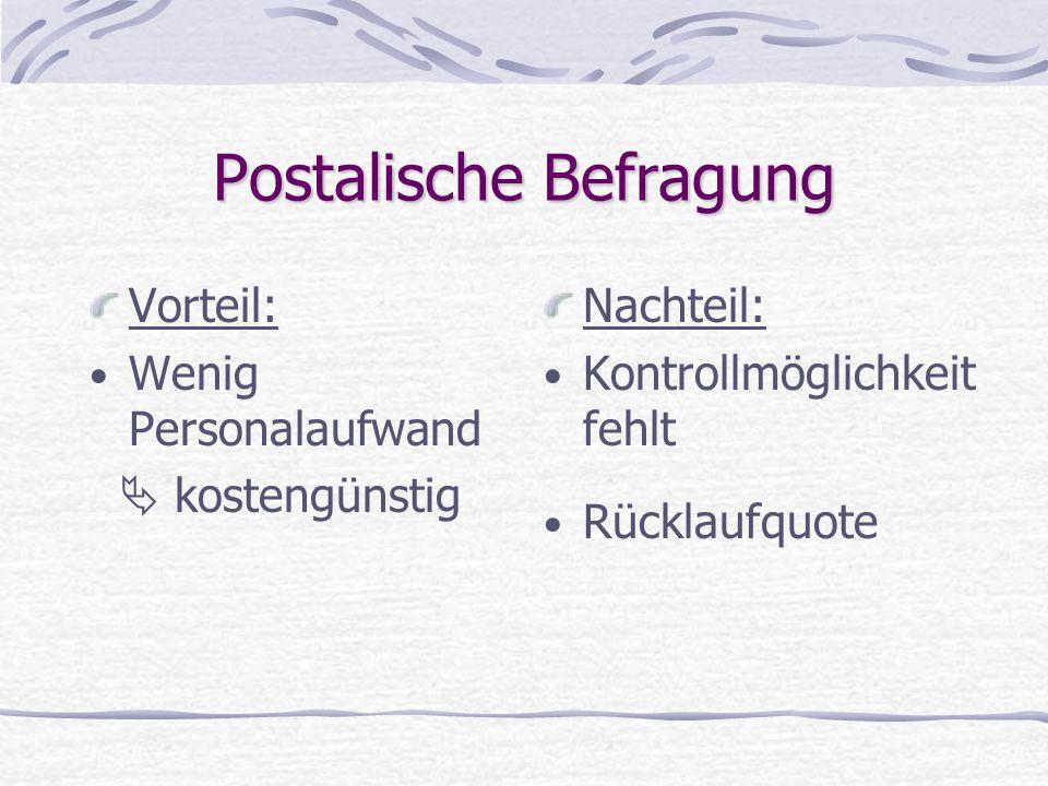 Postalische Befragung