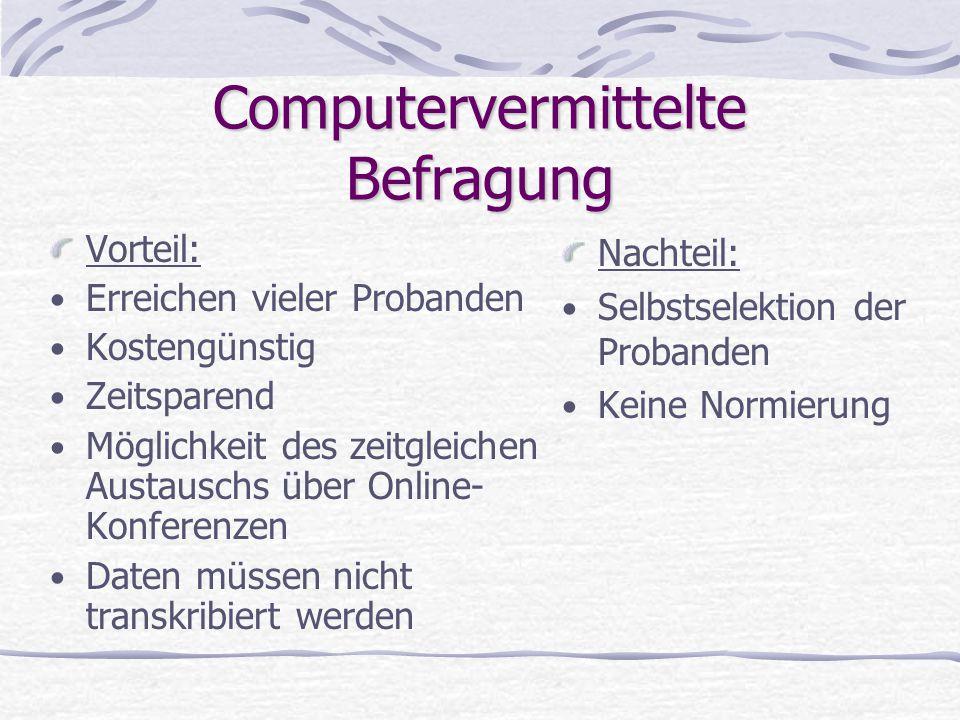 Computervermittelte Befragung