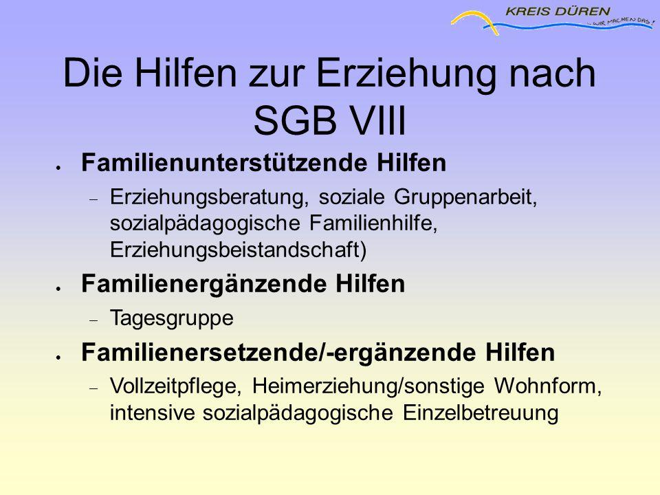 Die Hilfen zur Erziehung nach SGB VIII