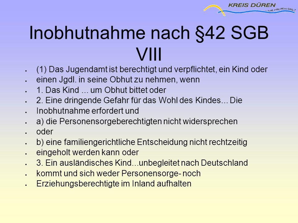Inobhutnahme nach §42 SGB VIII
