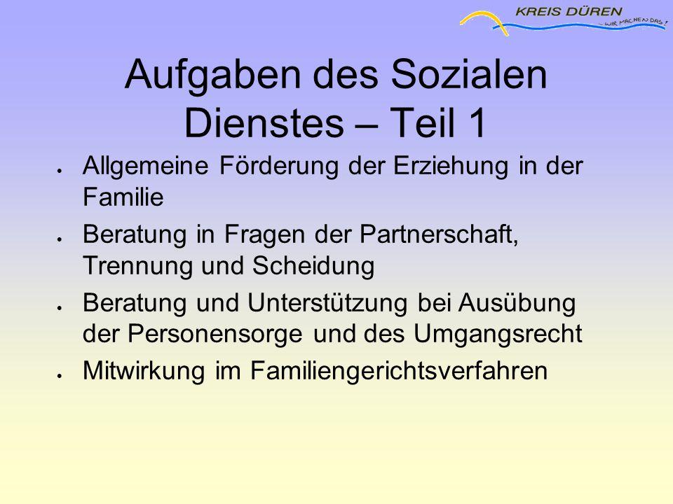 Aufgaben des Sozialen Dienstes – Teil 1