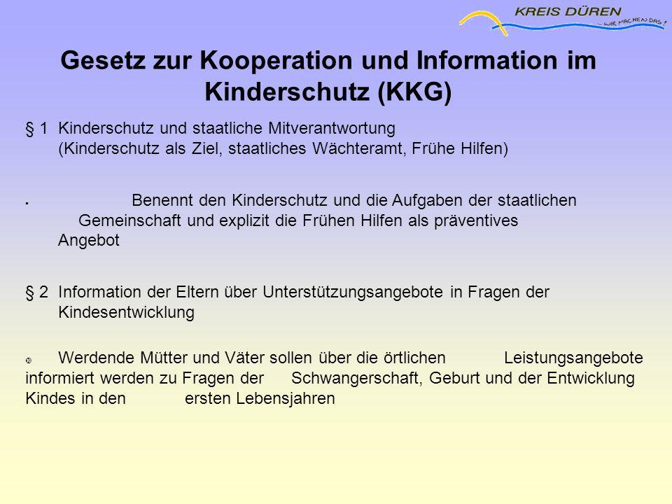 Gesetz zur Kooperation und Information im Kinderschutz (KKG)