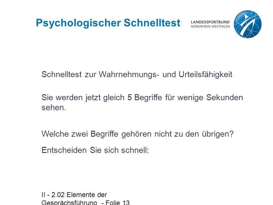 Psychologischer Schnelltest