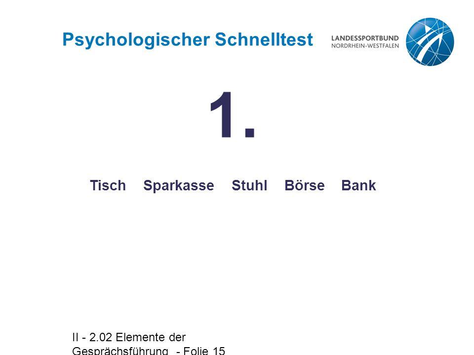 Psychologischer Schnelltest Tisch Sparkasse Stuhl Börse Bank