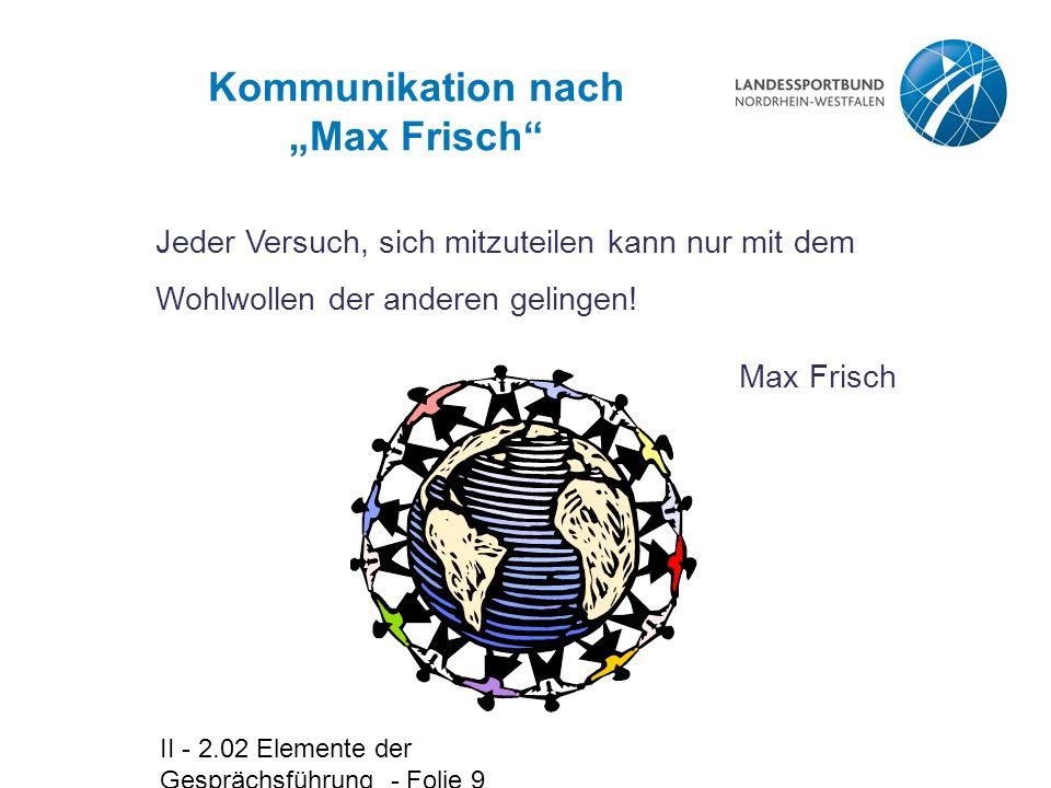 """Kommunikation nach """"Max Frisch"""