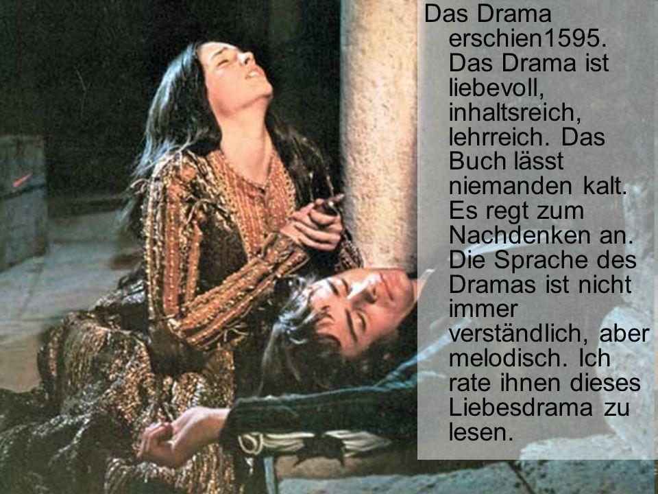 Das Drama erschien1595. Das Drama ist liebevoll, inhaltsreich, lehrreich.