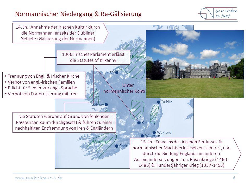 Normannischer Niedergang & Re-Gälisierung