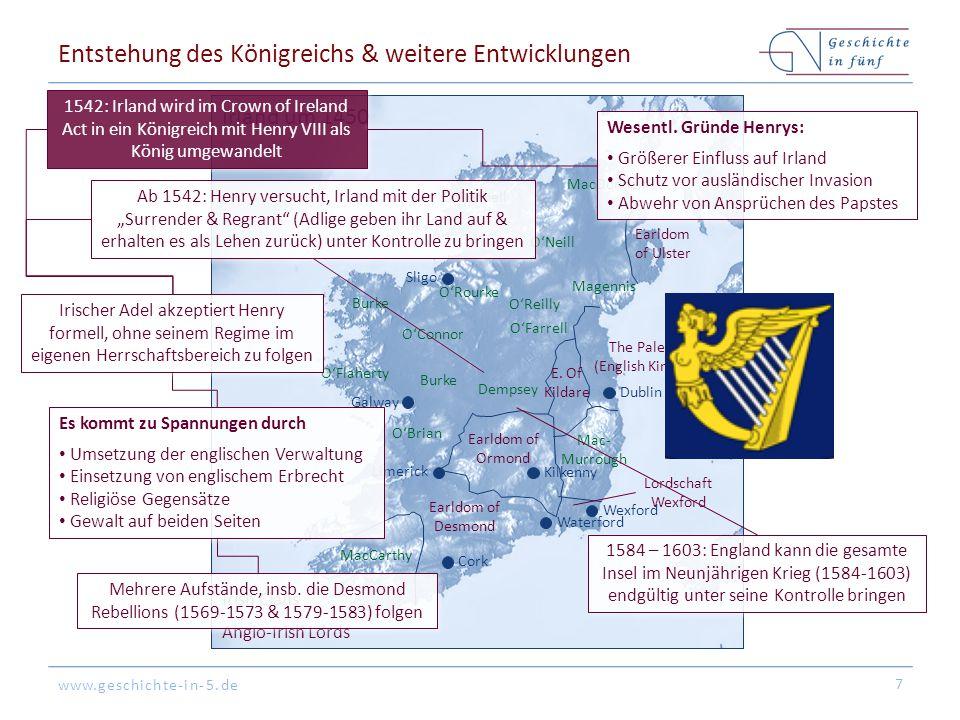 Entstehung des Königreichs & weitere Entwicklungen