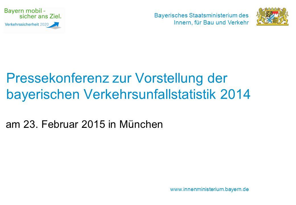 Pressekonferenz zur Vorstellung der bayerischen Verkehrsunfallstatistik 2014