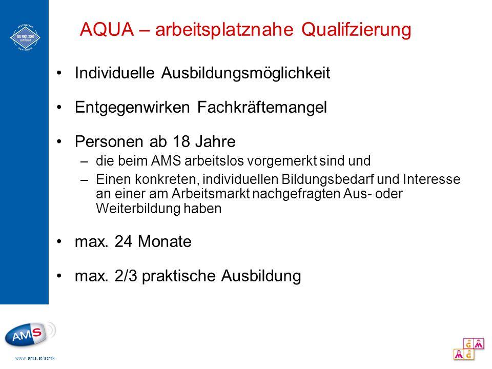 AQUA – arbeitsplatznahe Qualifzierung