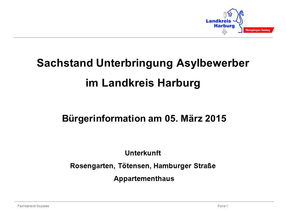 Sachstand Unterbringung Asylbewerber im Landkreis Harburg Bürgerinformation am 05.