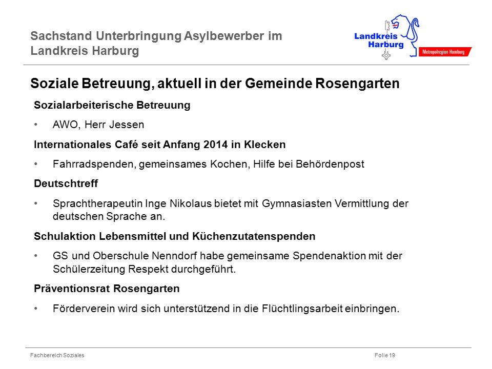 Soziale Betreuung, aktuell in der Gemeinde Rosengarten