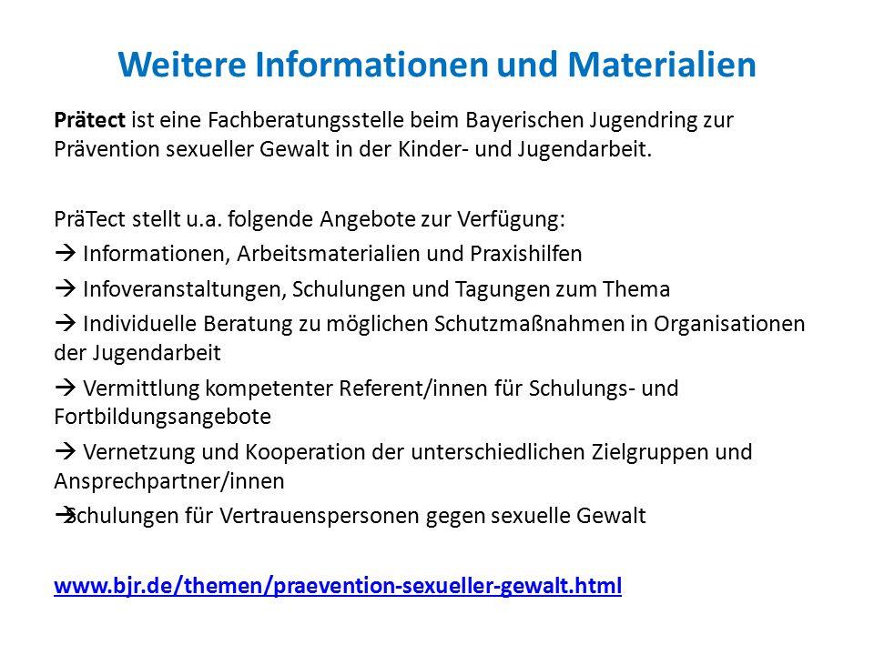 Weitere Informationen und Materialien