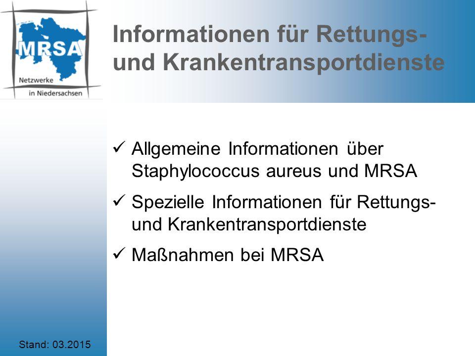 Informationen für Rettungs- und Krankentransportdienste