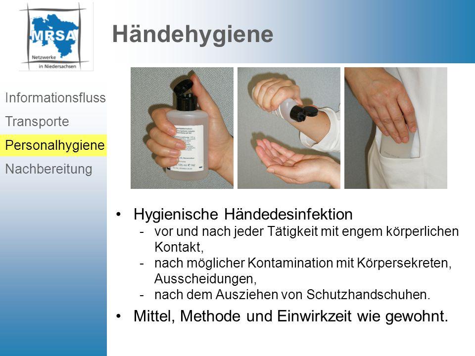 Händehygiene Hygienische Händedesinfektion