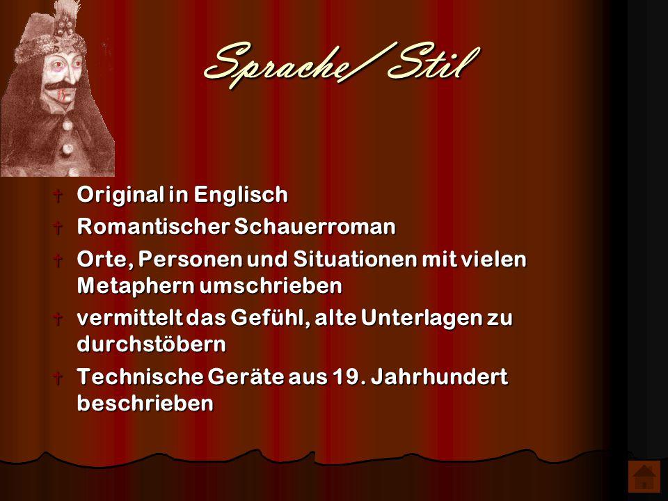 Sprache/ Stil Original in Englisch Romantischer Schauerroman