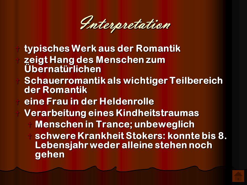 Interpretation typisches Werk aus der Romantik