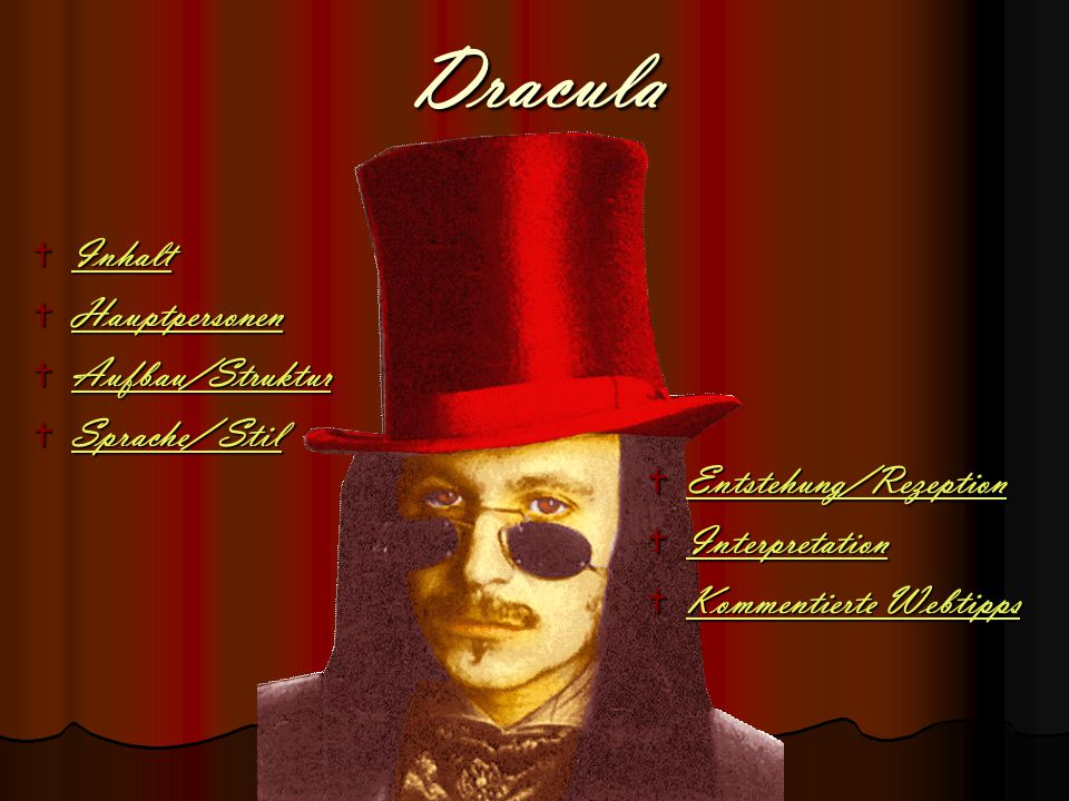 Dracula Inhalt Hauptpersonen Aufbau/Struktur Sprache/ Stil