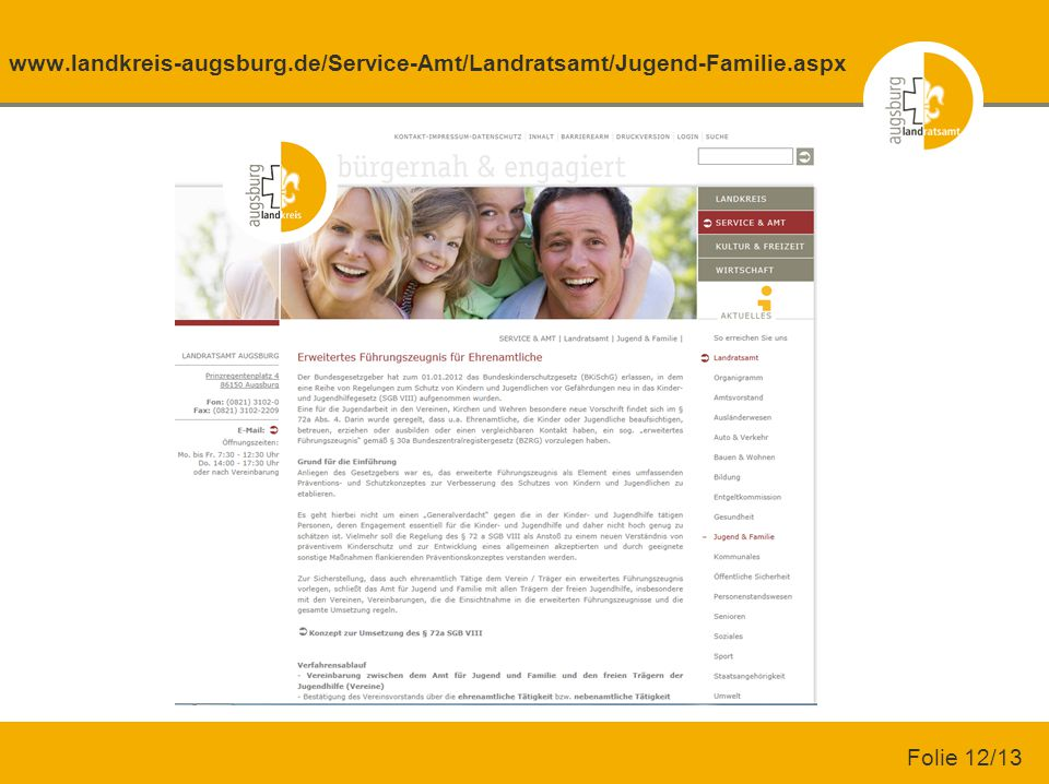 www. landkreis-augsburg. de/Service-Amt/Landratsamt/Jugend-Familie