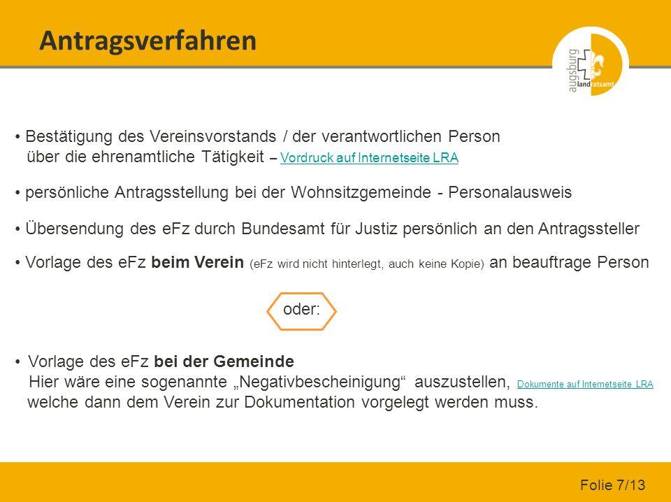 Antragsverfahren Bestätigung des Vereinsvorstands / der verantwortlichen Person über die ehrenamtliche Tätigkeit – Vordruck auf Internetseite LRA.