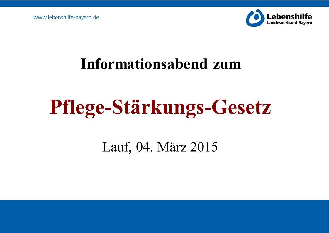 Informationsabend zum Pflege-Stärkungs-Gesetz