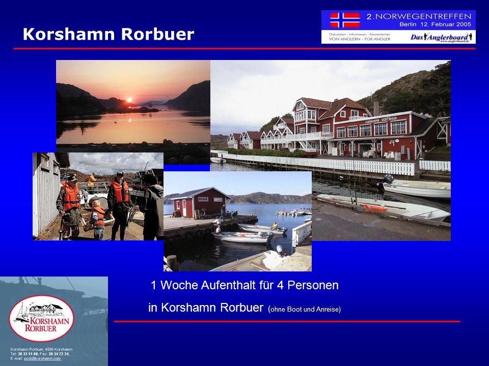 Korshamn Rorbuer 1 Woche Aufenthalt für 4 Personen