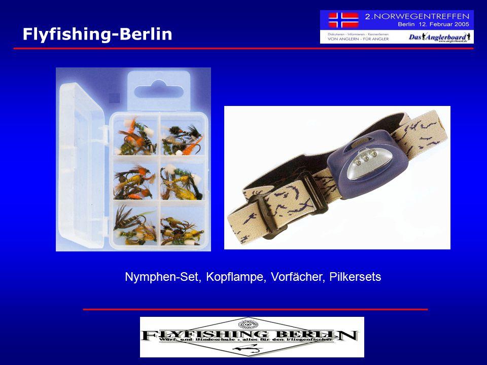 Nymphen-Set, Kopflampe, Vorfächer, Pilkersets