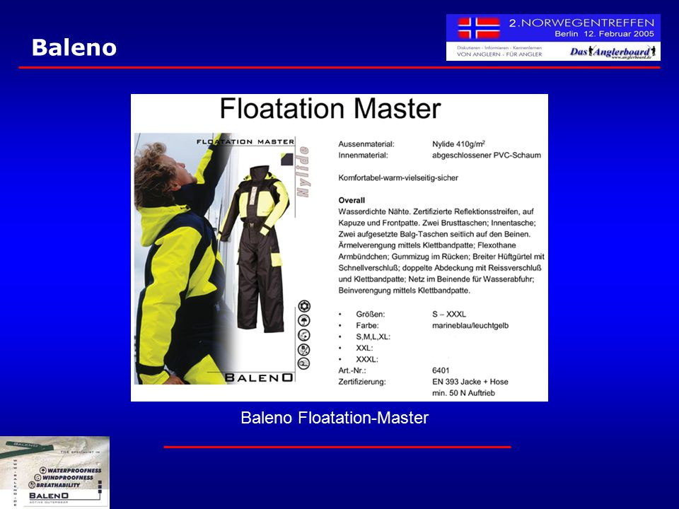Baleno Floatation-Master