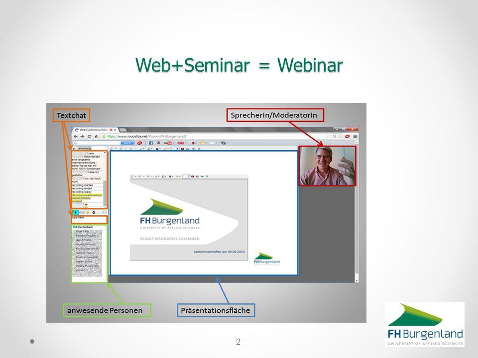 Web+Seminar = Webinar